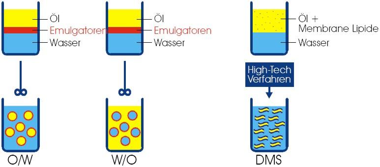 Herstellung von Emulsionen und DMS