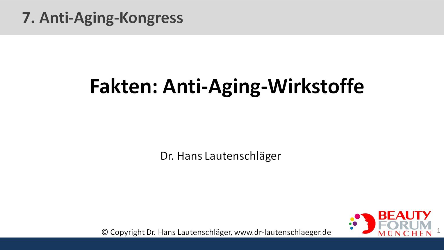 Facts on anti-aging agents