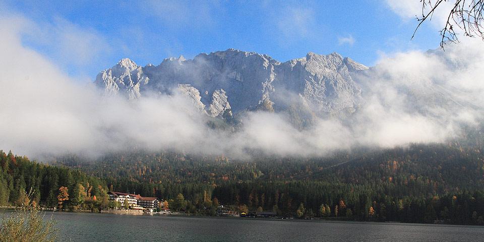 Eibsee-Hotel with Zugspitze